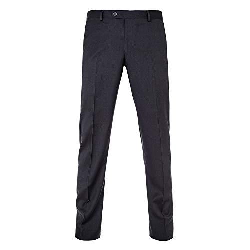 Michaelax-Fashion-Trade Benvenuto Black - Modern Fit - Herren Baukasten Anzug Hose aus Super 110'S Schurwolle, Nero. V (20761, Modell: 62702), Größe:106, Farbe:Anthrazit (1283)