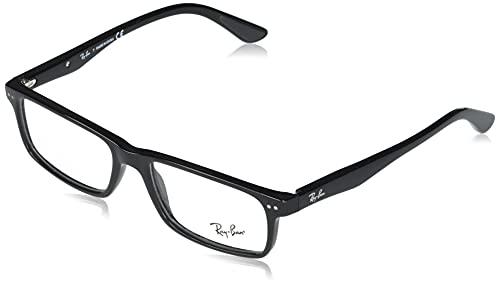 Ray-Ban Unisex-Adult RX5277 Prescription Eyeglass Frames, Shiny Black, 54 mm