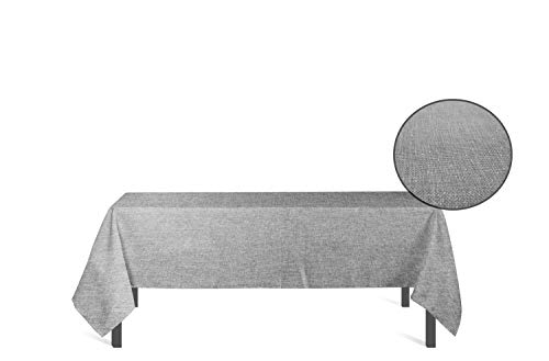 Tafelkleed rechthoekig met bescherming tegen vlekken 160x300 cm BELLA grijs, Soleil d'ocre