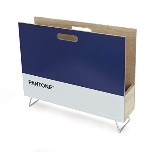 Balvi Revistero Pantone Color Azul Decorativo Organizador para revistas, Diarios, Documentos, con diseño Moderno y Minimalista Pantone Madera DM 28x38x9 cm
