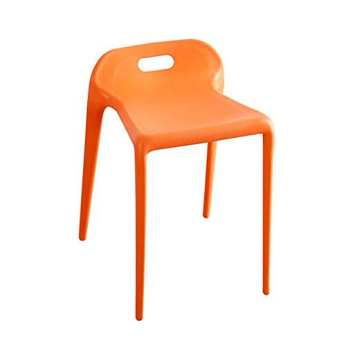 Set van 2 Barkruk Hoge kruk barstoel Eetkamerstoel restaurant Cafe Keuken stoel balie bureaustoel Bistro Dressingtafel Hotel stoel ORANJE