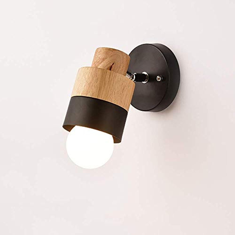 ●  1-Light Nordic Logs Holz Einstellbare Wandleuchte Einfache Moderne Kreative Japanische Metall Wandleuchte Schlafzimmer Nachttischlampe Wohnzimmer TV Studie Korridor Gang Dekoration Wandleuchte E27