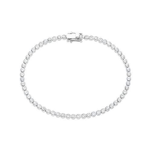 s.Oliver Tennisarmband für Damen, Sterling Silber 925, Zirkonia