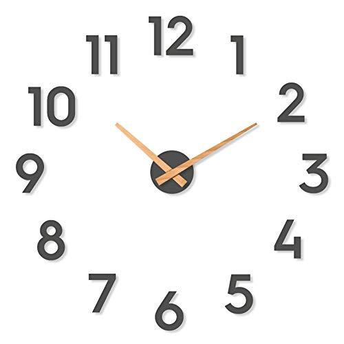Cander Berlin MNU 6280 XXL Designer Wanduhr Wandtattoo aus Beton mit lautlosem Uhrwerk 80 cm