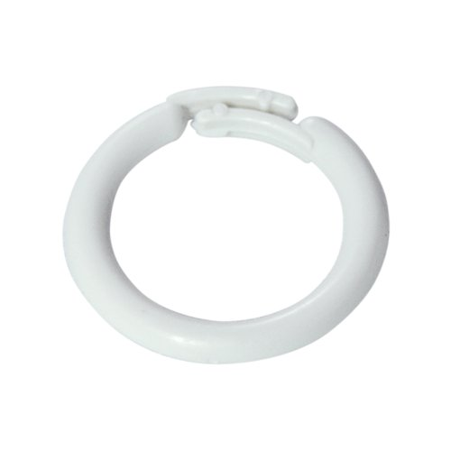 """Home Sewing Depot - White Plastic Split Rings for Shades & Valances, 1/2"""" Id-7/8""""od 25/pkg"""