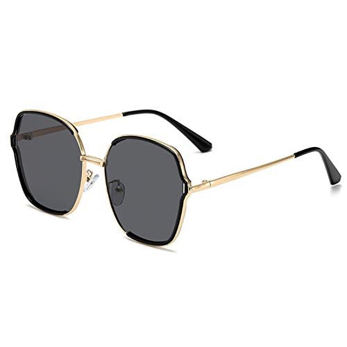 SXRAI Gafas de Sol Marrones de Gran tamaño para Mujer, Gafas Rosadas con Degradado, Gafas de Sol para Hombre con Montura Grande para Mujer, Uv400,C1