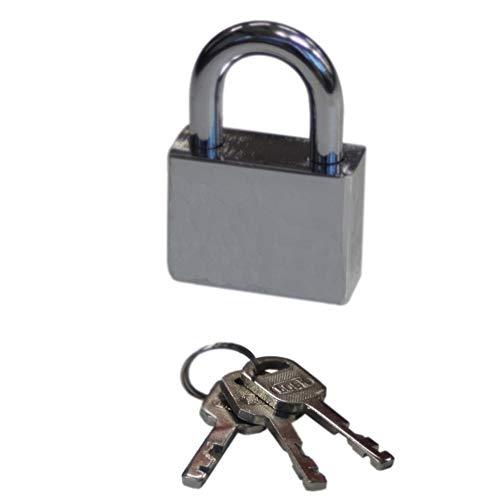 B-SAFE 40mm Vorhängeschloss Vorhangschloss Sicherheitsschloss Bügelschloss Wetterfest mit 3 Schlüsseln