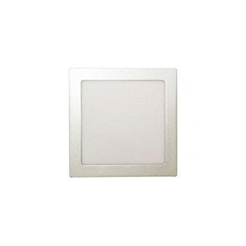 Plafón LED de superficie cuadrado color plata 30W - Electro DH Mod.:...