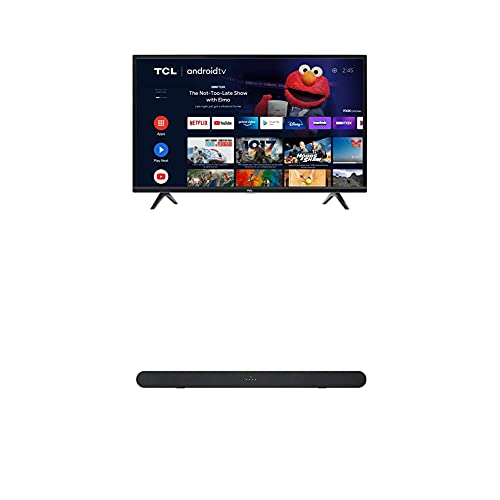 TCL 32-inch Class 3-Series HD LED Smart Android TV - 32S334, 2021 Model + TCL Alto 6 2.0 Channel Home Theater Sound Bar with Bluetooth – TS6100, 120W, 31.5-inch, Black (TS6100-NA)
