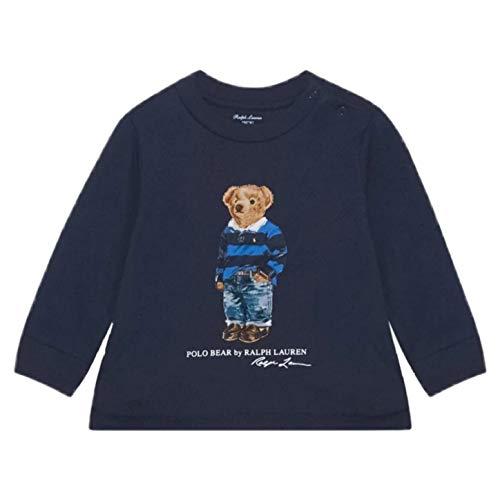 Polo Ralph Lauren - 320805681002 Camiseta Azul Oso - Camiseta Manga Larga...