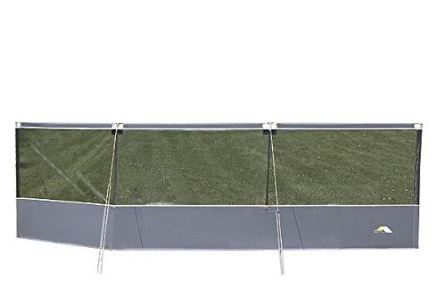 dwt Windschutz Tennis 450x130cm inkl.Gestänge Strand Sonnenschutz Trennwand Terrassen Camping Windschutz Outdoor