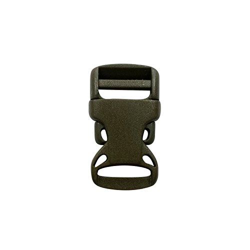 Fermeture à clic, fermeture par clip lot de 10 systèmes de fermeture par clip arquées pour sangle de largeur 20 mm, couleur : vert/kaki