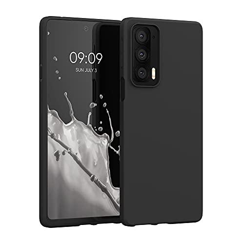 kwmobile Hülle kompatibel mit Motorola Edge 20 - Hülle Silikon - Soft Handyhülle - Handy Hülle in Schwarz matt