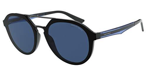 GIORGIO ARMANI Occhiali da sole AR8131 500180 occhiali Uomo colore Nero lente blu taglia 52 mm