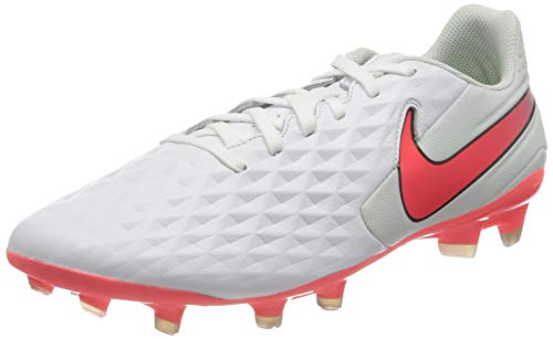 Nike Legend 8 Academy FG/MG, Scarpe da Calcio Unisex-Adulto, White/Flash Crimson-Photon Dust-Black, 44 EU