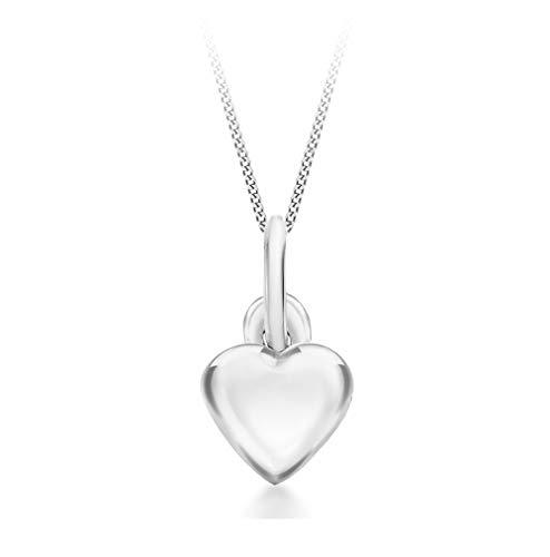 Tuscany Silver Collana da donna con ciondolo a forma di cuore in argento 925, 46 cm