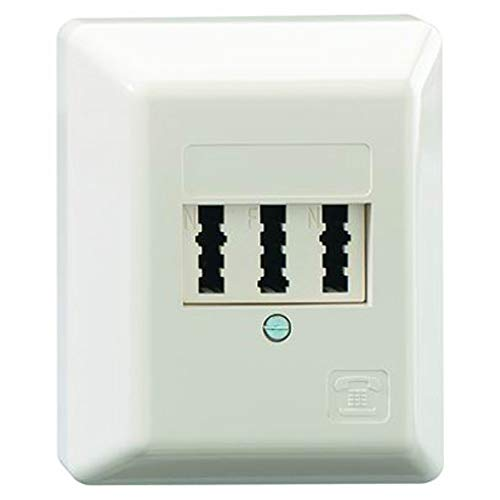 Rutenbeck TAE NFN AP Telefon-Anschlussdose 3x6-polig