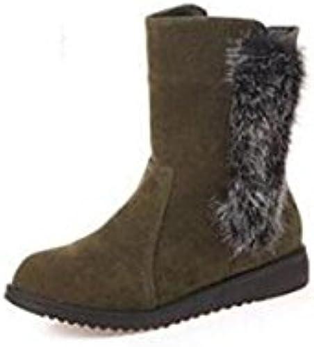 CHENGREN Stiefel de Nieve para damenes Stiefel Calientes Stiefel de Goma Stiefel Altas de Invierno, 39