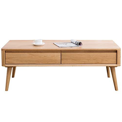 Z-GJM eenvoudige stijl massief hout salontafel klein appartement Chinese eiken rechthoekige woonkamer thuis salontafel eenvoudige log salontafel de salontafel is hard, stabiel, duurzaam en heeft een na A