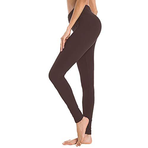 Gayhay Damen-Leggings mit hoher Taille, blickdicht, schmal, Bauchweg-Hose für Yoga, Workout, Radfahren, Laufen, Damen, braun, Small/Medium (Pack of 1)