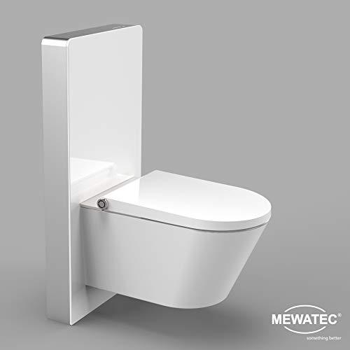 MEWATEC Marken Sanitärmodul für Wand-WCs | Markenqualität | MagicWall Touch Spülwand Premium-Spülkasten Vorwandelement - Preis-Leistungs-Sieger (weiß)