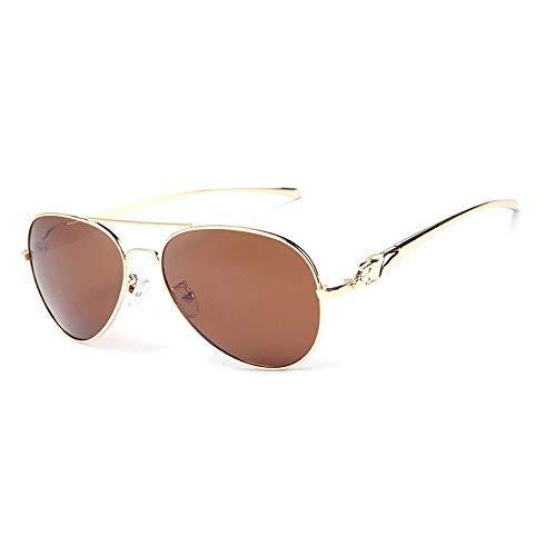 Yeeseu Gafas de sol polarizadas gafas de sol for las mujeres de los hombres del marco grande redonda Negro conducción de pesca que abarca gafas de sol gafas de moda (Color: Negro, Tamaño: Libre) Cicli