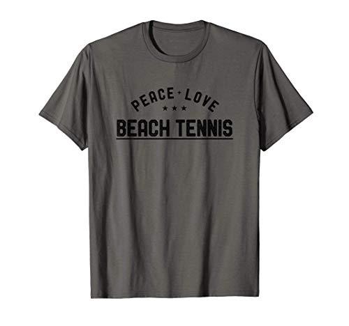 Peace Love Beach Tennis Vintage Beach Tennis Player Maglietta