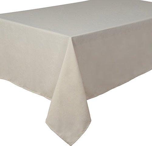 Home Direct Nappe Polyester Facile d'entretien Rectangulaire 140 x 240 cm Uni Ivoire crème