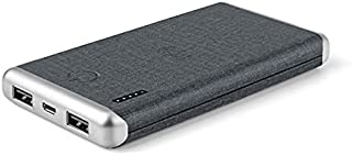 Wireless Powerbank 8000 mAh, Covered with PU material, Wireless Output with 2 USB Output, Light Weight Portable Power Stor...
