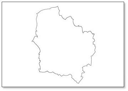 Hauts-de-France - Imán para nevera, diseño de mapa de la región de Francia