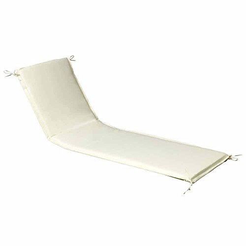PAPILLON 8097020 Cojin para Tumbona 200x65x5 cm. Beige Desenfundable