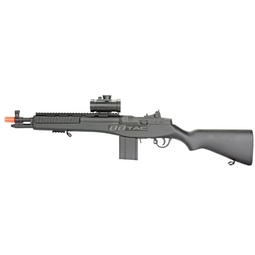 bbtac m305p airsoft gun m14 ris full sized spring airsoft rifle with scope with warranty(Airsoft Gun)