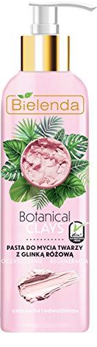 Bielenda, Botanical Clays Vegan, pâte nettoyante pour le visage avec argile rose, crème sèche et déshydratée 190 ml