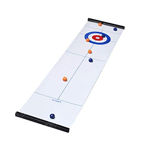 JJCFM Tabletop Curling-Spiel Und Family Fun Brettspiele -Compact Curling Brettspiel Mini-Tischspiele Für Familie Schule Reisen Spielen
