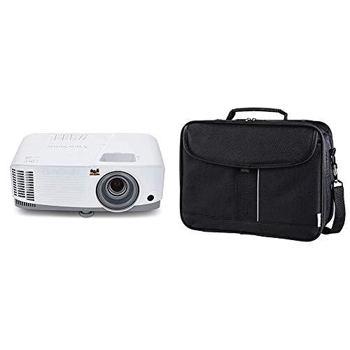 Viewsonic PA503W 3D Heimkino DLP Beamer weiß-grau & Hama Beamertasche Sportsline (Projektor Tasche Größe M, 23 x 32 x 10 cm, für Acer, BenQ, Epson, LG, Optoma Beamer) schwarz
