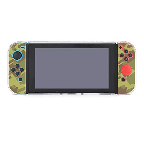 Protective Case Cover for Nintendo Switch Army Camo Middle Finger Green Dockable Case Compatible with Nintendo Switch Console and Joy-Con Controller