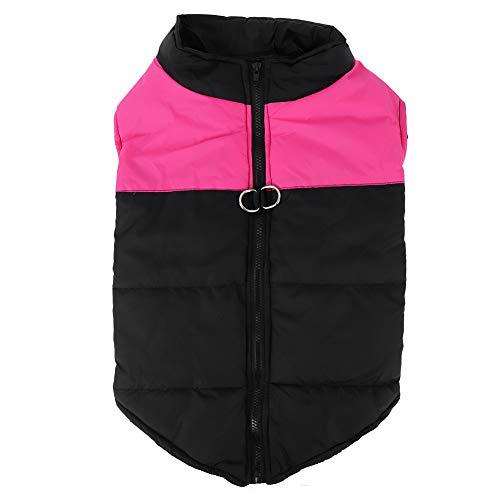 TAKE FANS Wasserdichte Daunenjacke aus Polyester, für große Hunde, Größe XXL, Pink