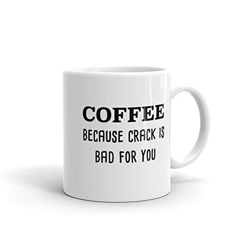 Koffie omdat Crack slecht voor je is koffiemok grappig cadeau baas cadeau