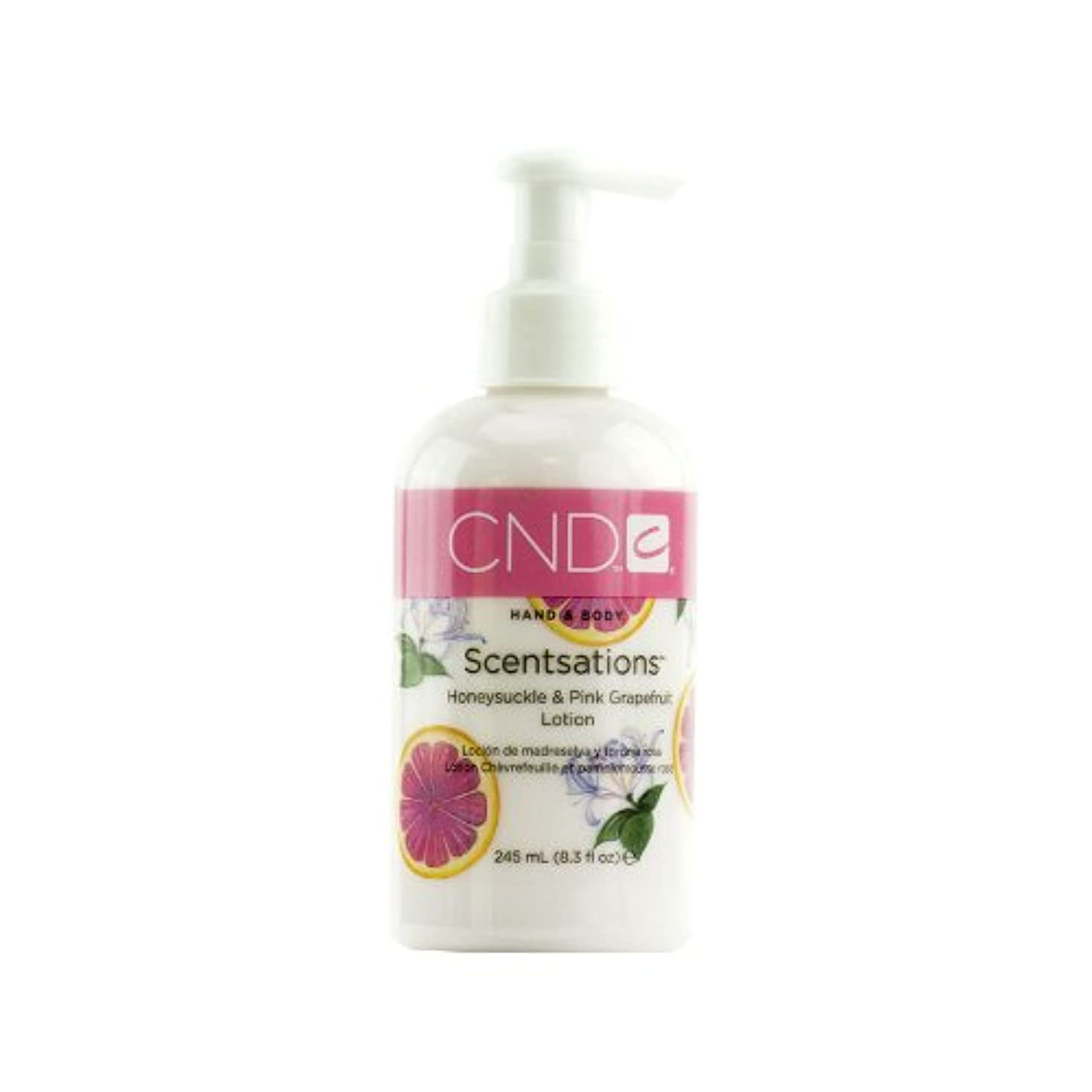 パンダ性的貼り直すCND センセーション ハンド&ボディローション ハニーサックル&ピンクグレープフルーツ 245ml みずみずしいフェミニンな香り