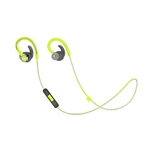 JBL Reflect Contour 2 Wireless Sport In-Ear Kopfhörer mit 3-Knopf-Fernbedienung und Mikrofon (grün)