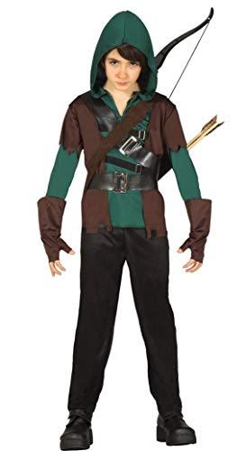 Fancy Me Jungen 4 Stück grün mittelalterlich Bogenschütze Robin Hood Halloween Kostüm Kleid Outfit 5-12 Jahre - Grün, Grün, 7-9 Years