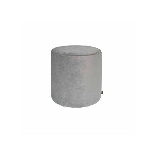 ypos zitzak cilindrische velours d33.5 x H32 cm grijs