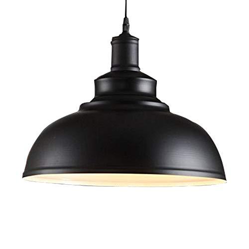 E27 Métal Vintage Plafonnier Suspensions Luminaire Retro Metal Suspensions Luminaire Plafond Lumière Antique Plafonnier Lustre Luminaire Pendentif éclairage(Noir)