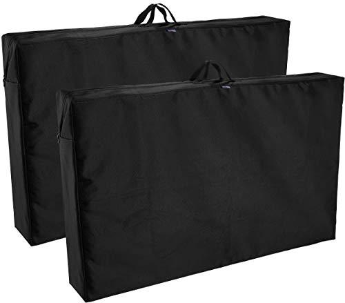 Brubaker 2er Pack Premium Schutztasche/Aufbewahrungstasche für Gartenstühle - Robustes Oxford 600D Gewebe - wasserfest - 97 x 59 x 16 cm