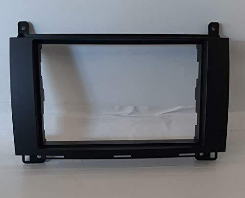 Mascherina telaio auto montaggio autoradio Adattatore stereo 2 doppio iso din compatibile con Mercedes Benz Classe A W169 Classe B W245 Sprinter Viano Vito MS252/ST