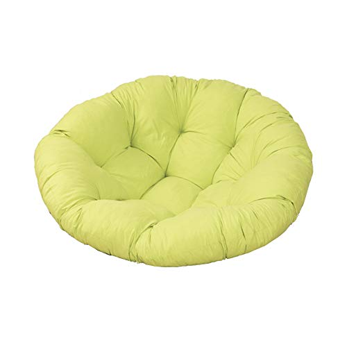 YYEWA Papasan Patio Chair Cushion Thicked Egg Seat Cushions Hanging Egg Hammock Swings Chair Pads Mats for Indoor Outdoor,Yellow,L