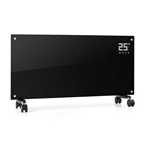 Klarstein Bornholm - Radiatore Convettivo, Termosifone Elettrico, 2000 Watt, Display LCD, 2 Livelli di Riscaldamento, Protezione da Surriscaldamento, Telecomando, Nero