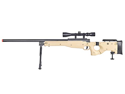 Well MB08 Airsoft Sniper Rifle W/Scope and Bipod - Tan
