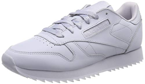 Reebok Damen Classic Leather Ripple Fitnessschuhe, Grau (Cloud Grey 0), 40.5 EU