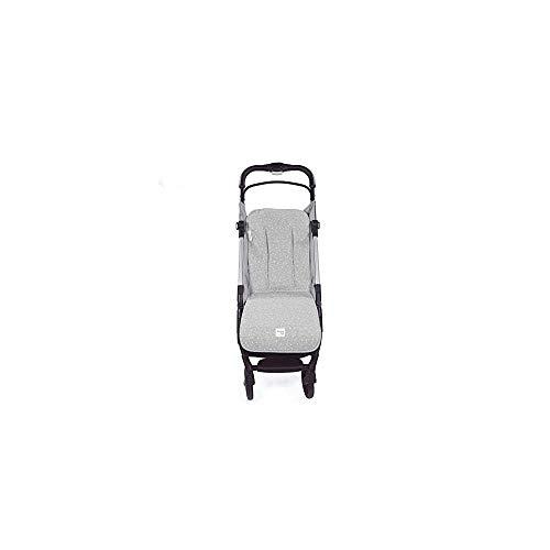 Walking Mum. Colchoneta para silla de paseo Dreamer. Forro para silla de paseo anti-sudoración para el verano. Tejido en Punto. Uso universal. Color Gris. Medidas 35 x 84 cm.
